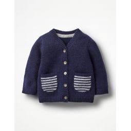 Pocket Cashmere Cardigan - Beacon Blue