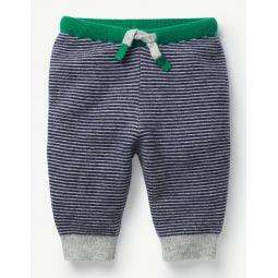 Cashmere Pants - Beacon Blue/Grey Marl