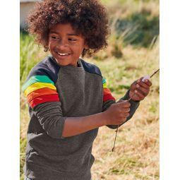 Sporty Sweatshirt - Grey Marl Rainbow