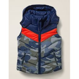 Water Resistant Vest - College Blue/Camouflage