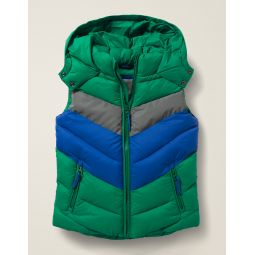 Water Resistant Vest - Hike Green/Reflective