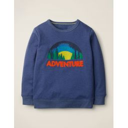 Textured Adventure Sweatshirt - Navy Blue Marl Adventure