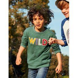 Textured Adventure Sweatshirt - Rosemary Green Wild