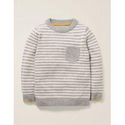 Essential Crew Sweater - Grey Marl/Ivory