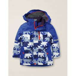 All-Weather Waterproof Jacket - Heron Blue/Camouflage