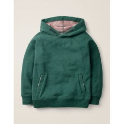 Drop Shoulder Hoodie - Emerald Night Green Marl