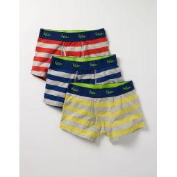 3 Pack Jersey Boxers - Multi Stripe