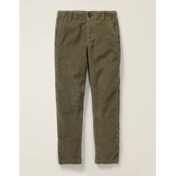 Relaxed Cord Chino Pants - Khaki Green