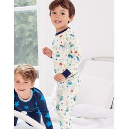 Twin Pack Long Pajamas - Ivory Music Animals