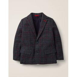 Party Blazer - Grey/Navy Tweed