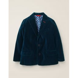 Party Blazer - Navy Velvet