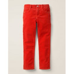 Slim Cord Jeans - Orange Red Cord