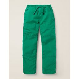 Fleece-Lined Techno Pants - Hike Green