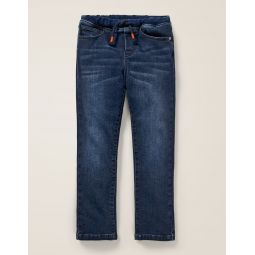 Denim Pull-On Pants - Dark Denim