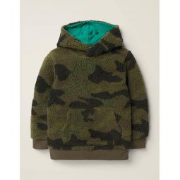Textured Hoodie - Country Green Camo
