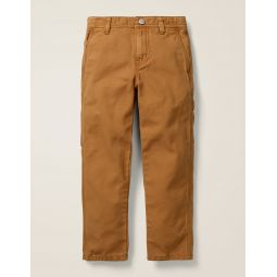 Rib Waist Carpenter Pants - Butterscotch Brown