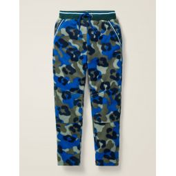 Microfleece Joggers - Khaki Animal Camo