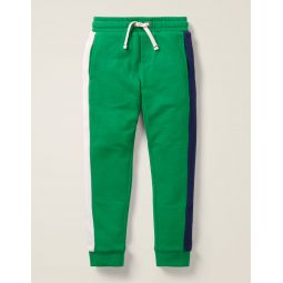 Cosy Lined Joggers - Hike Green Colourblock