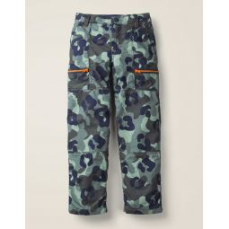 Lined Skate Pants - Blue/Grey Camo
