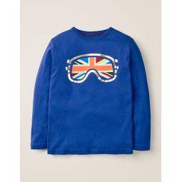 Snow T-Shirt - Howlin Blue Goggles