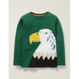 Bright Animal T-Shirt - Linden Green Eagle