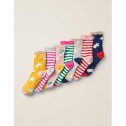 7 Pack Sock Box - Unicorns