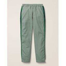 Woven Side Stripe Pants - Pottery Green