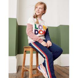 Slogan Sweatshirt - Oatmeal Marl London