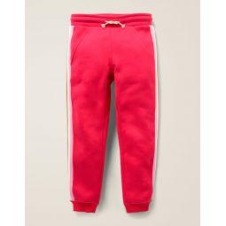 Stripe Detail Joggers - Carmine Red