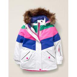 All-Weather Waterproof Jacket - White/Blue Heron