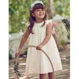 Pintuck Dress - Ivory