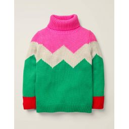 Roll Neck Sweater - Hike Green