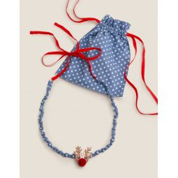 Fabric Necklace - Jolly Christmas