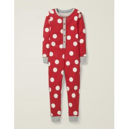 Cosy All-In-One Pajamas - Carmine Red Spot