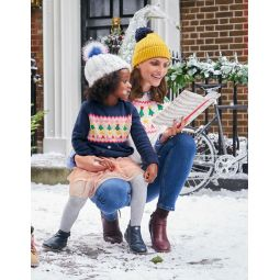 Cosy Christmas Day Jumper - College Blue Falalala