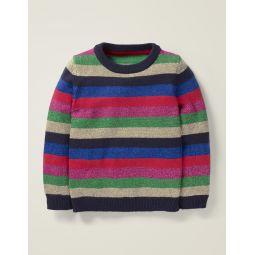 Cosy Christmas Day Jumper - Lurex Rainbow Stripes