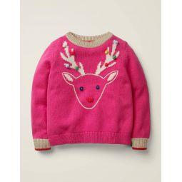 Cosy Christmas Day Jumper - Pink Sorbet Reindeer
