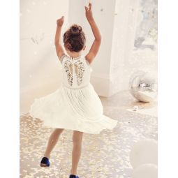 Festive Tulle Party Dress - Ivory Angel