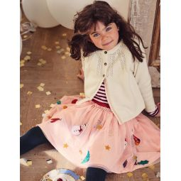Applique Tulle Skirt - Provence Dusty Pink Festive