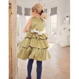 Sparkle Tiered Dress - Gold Sparkle