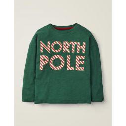 Festive Fun T-Shirt - Linden Green North Pole