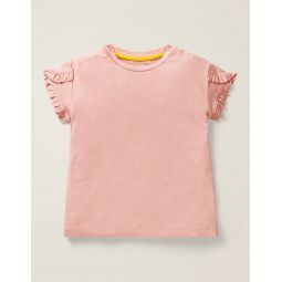 Frill Wrap Sleeve Top - Boto Pink