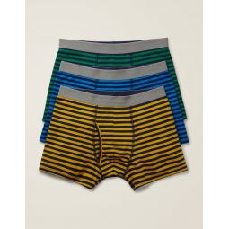 3 Pack Jersey Boxers - Marl Multi Pack