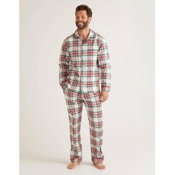 Brushed Cotton Pyjama Set - Multi Check