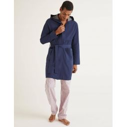 Pique Dressing Gown - Navy