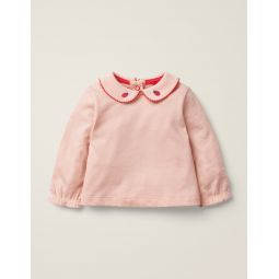 Collar T-Shirt - Provence Dusty Pink