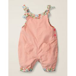 Heart Pocket Cord Overalls - Chalky Pink