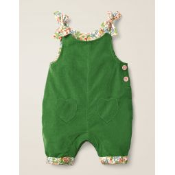 Heart Pocket Cord Overalls - Willow Green