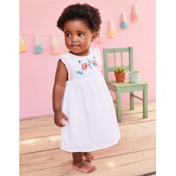 Floral Embroidered Dress - White Bird Embroidery