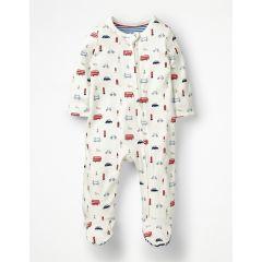 Printed Zip-up Sleepsuit